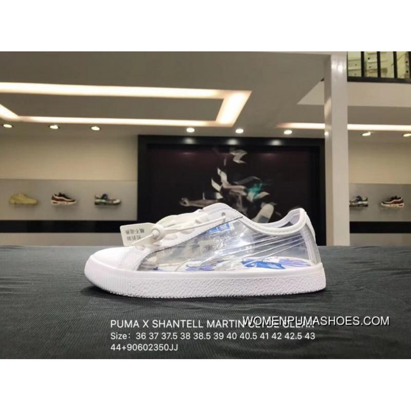 release date: d85e3 1e9ab Puma X SHANTELL MARTIN CLYDE CLEAR Collaboration Graffiti Transparent  Sneakers SKU 365898-01 Size Top Deals