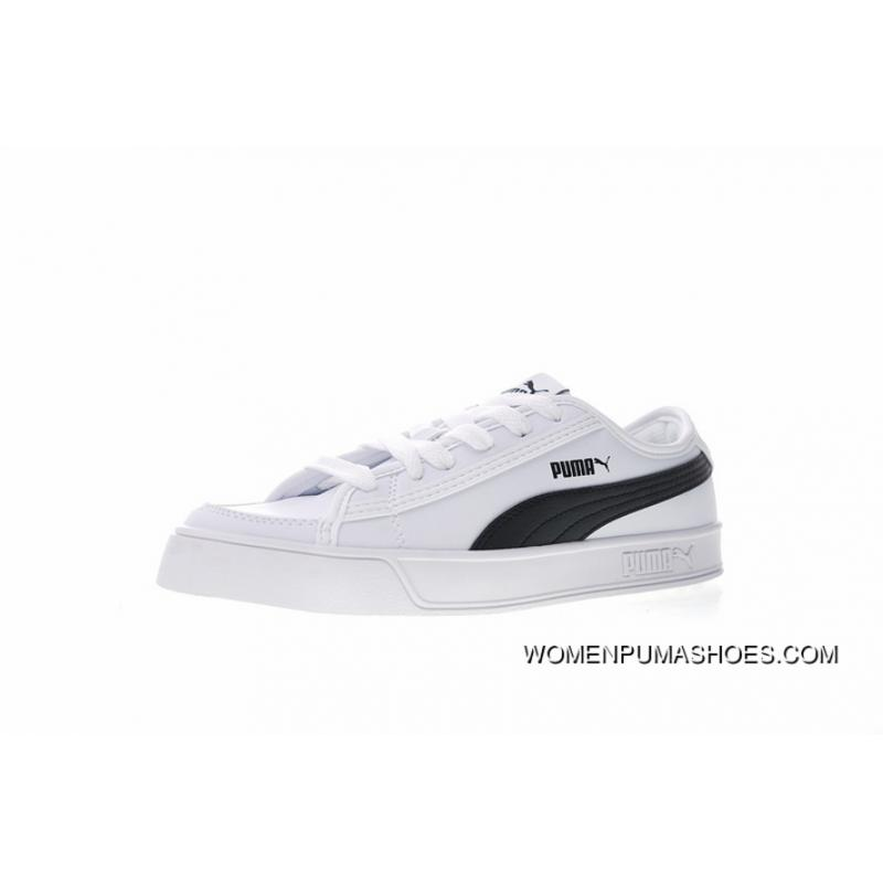 timeless design 1ad86 91bac Japan And South Campus Wind Puma Smash Vulc Leather Low Han Fasten  All-match Wear-resisting Rubber Bottom Sneakers Leather White Black  367308-02 ...