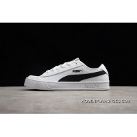 Outlet Puma Leather White Black 367308-02 Women Shoes And Men Shoes