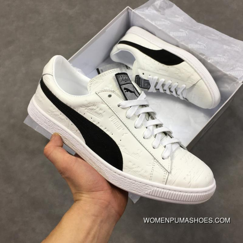 ad0a8c442299 ... Manufacturing Brand PANINI Collaboration Puma X PANINI SUEDE CLASSIC  All-match The 50th Anniversary Of The CLASSIC Star Sneakers White Black  366323-01