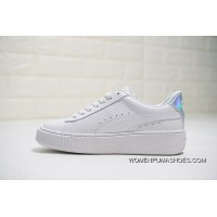 Women Shoes All FULL GRAIN LEATHER Foot Feels Super Soft LEATHER LINING System Top 50 Anniversary Gift Box Version Puma Platform Metal Rihanna Flatform 2.0 All-match Fashion Sneakers White Skin Multi Color Tail Gold LOGO498916-06 Copuon