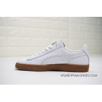 Women Shoes And Men Shoes All FULL GRAIN LEATHER Puma Basket Making Classic Gum Department Deluxe Classic Star Series All-match Casual Sneaker White Gold LOGO366612 PiSheng Glue-02 Best