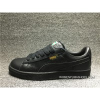 200 Puma Classic Basket LFS Genuine Leather All Black Casual Sneaker 354367-19 New Year Deals