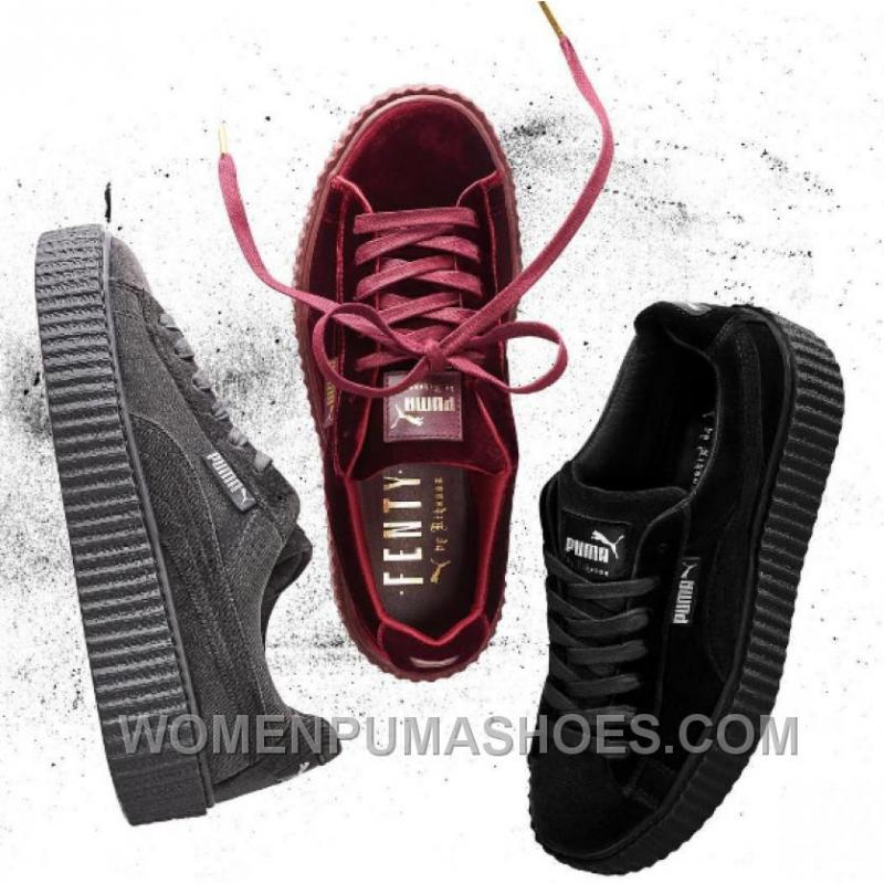 new concept 85ad9 a0c79 Puma By Rihanna Suede Creepers Black Grey Burgundy 2017 New Free Shipping  YaPtr