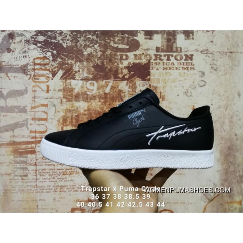 brand new fc114 db7b0 Trapstar X Puma Clyde Black White For Sale