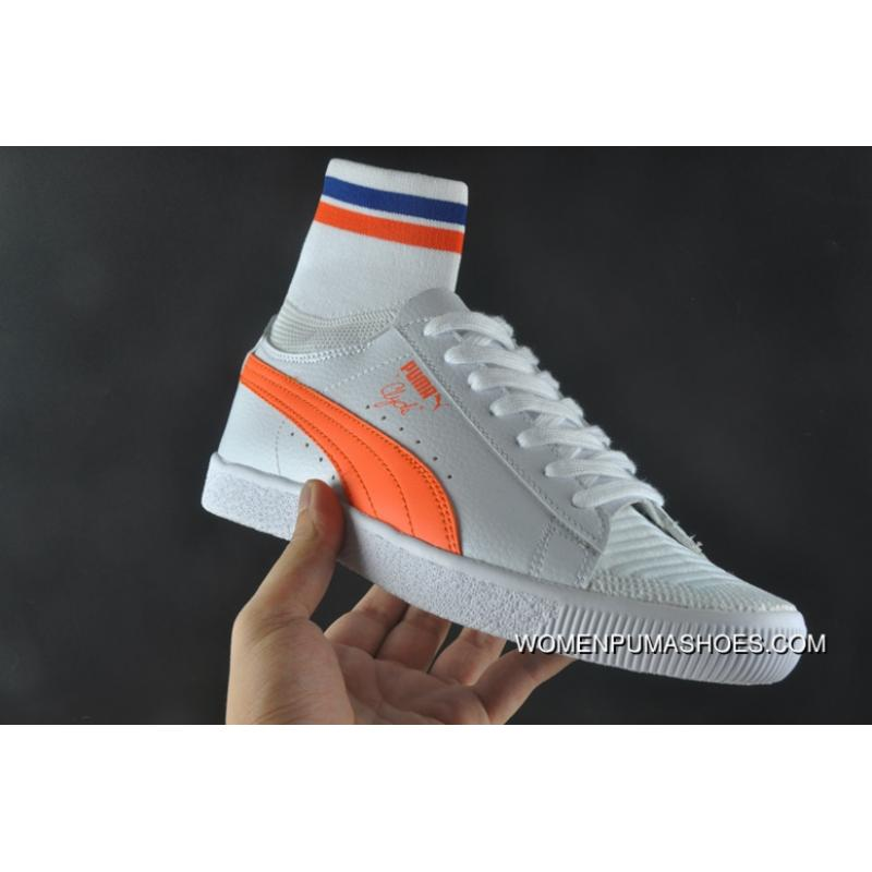 competitive price 778d4 2079b Women Shoes And Men Shoes Puma Clyde Sock Urban Ninja Series Leg Warmers  Mid Top Sneakers NYC York City Series White Orange Blue 364948-04 New Style