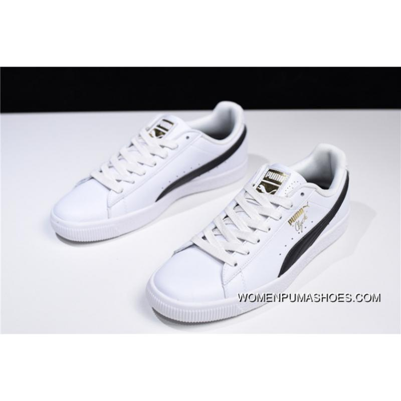 on sale 88d84 b611d Free Shipping Hyx Puma 1 Clyde Core Foil Casual Sport Sneakers White And  Black 364669-01