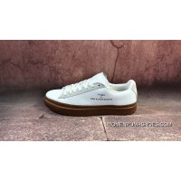 Best FULL GRAIN LEATHER Suede LEATHER The Danish High Street Brand Collaboration Han Kjobenhavn X Puma Clyde Stitched Clyde Gold Tongue Series Retro Sneakers SKU 364474-01 White Retro