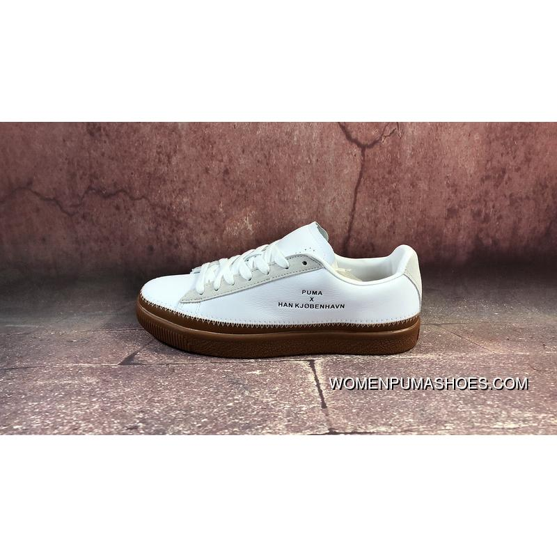 official photos e347e ce002 Best FULL GRAIN LEATHER Suede LEATHER The Danish High Street Brand  Collaboration Han Kjobenhavn X Puma Clyde Stitched Clyde Gold Tongue Series  Retro ...