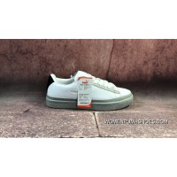 Discount To Upgrade The FULL GRAIN LEATHER Goat Danish High Street Brand Collaboration Han Kjobenhavn X Puma Clyde Stitched Clyde Gold Tongue Series Retro All-match Sneakers All White Shallow Pink Tail 364474-027