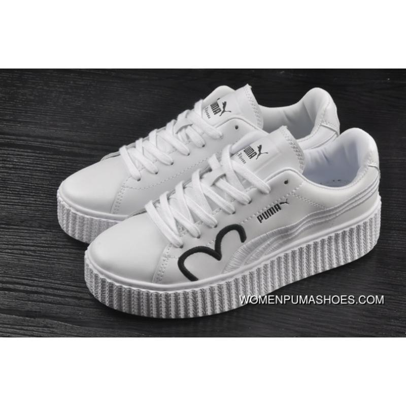 848db6c8384170 ... Puma Fenty CLF Creeper Women White Shoes 2018 Spring Free Shipping ...