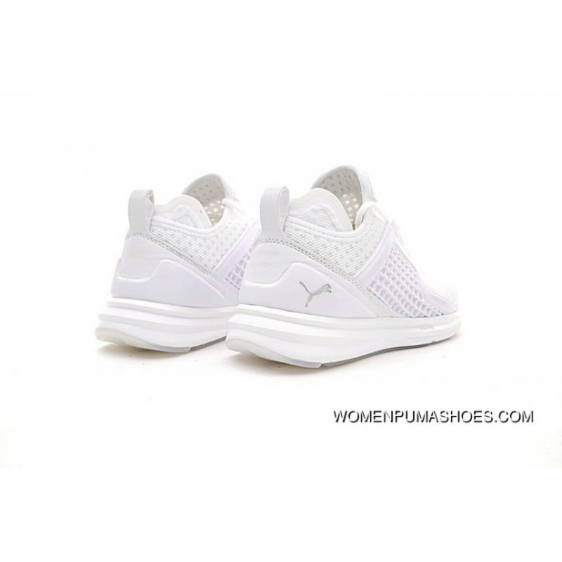 new concept b8c38 31906 For Sale Puma Ignite Limitless Infinite Series Fashion Jogging Shoes All  White 189496-02