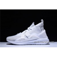 2 Function Puma IGNITE EvoKNIT HI Ignition Point Series High Jogging Shoes White Grey 190455-01 Discount