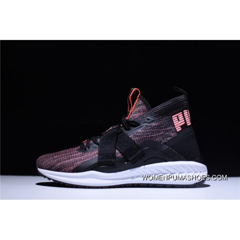 best service 3e44b fdcf5 2 Function Puma IGNITE EvoKNIT HI Ignition Point Series High Jogging Shoes  Light Pink Black WHite 190455-01 Best