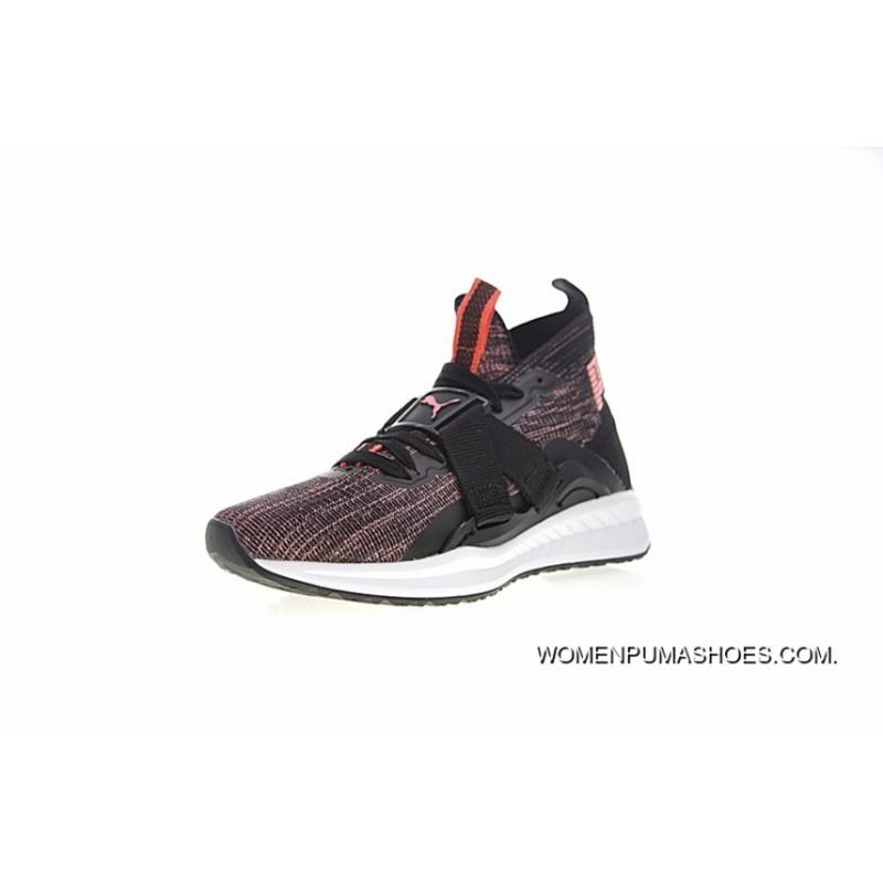 size 40 4e232 aaaeb 2 Women Shoes Puma IGNITE EvoKNIT HI Function Ignition Point Series High  Jogging Shoes Light Pink Black WHite 190455-01 Outlet