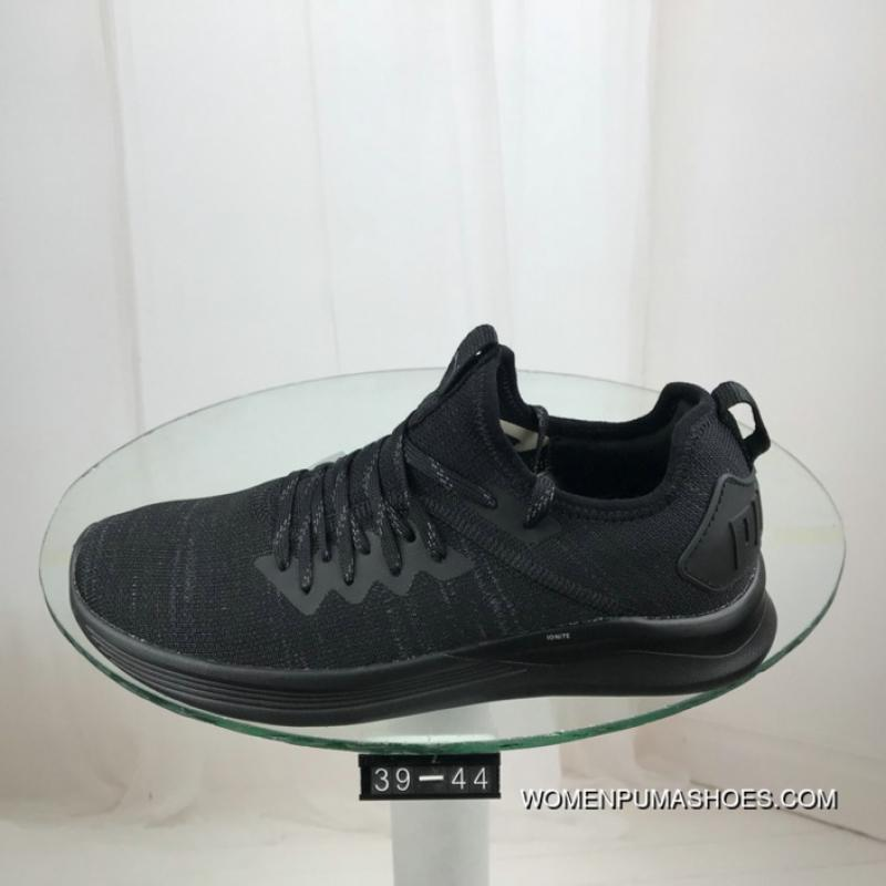release date: f3f12 43851 Puma Ignite Evoknit Breathable Woven Cushioning Comfortable Casual Sport  Shoes All Black Woven Breathable Woven Cushioning Comfortable Casual Sport  ...