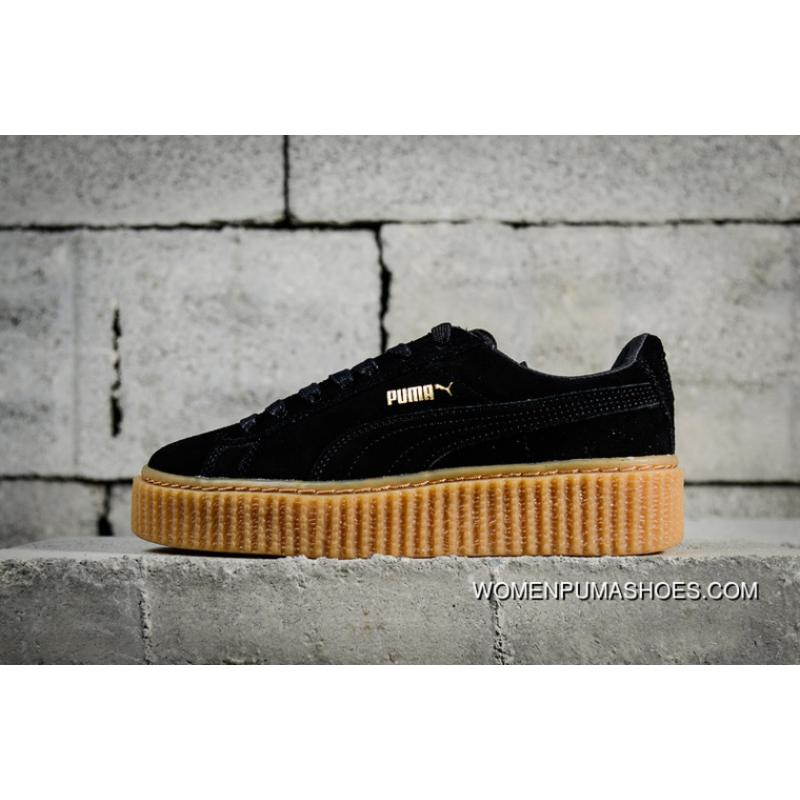 official photos 1fde2 54abf Authentic Puma Rihanna Original Suede Creepers-Flatform Shoes Black Brown  In 361005-02 Outlet