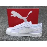 Online PUMA SMASH V2 VULC CV Canvas Sport Shoes Sneakers All White