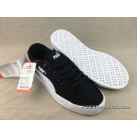 Best Puma Purchell SMASH V2 VULC CV Canvas Sport Sneakers Black And White 365968-03