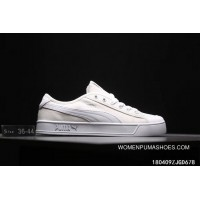 Puma Purchell SMASH V2 VULC CV Canvas Sport Sneakers All White 365968-02 Latest