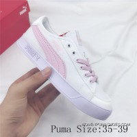 PUMA SMASH V2 VULC CV Canvas Sport Shoes Sneakers White Pink Super Deals