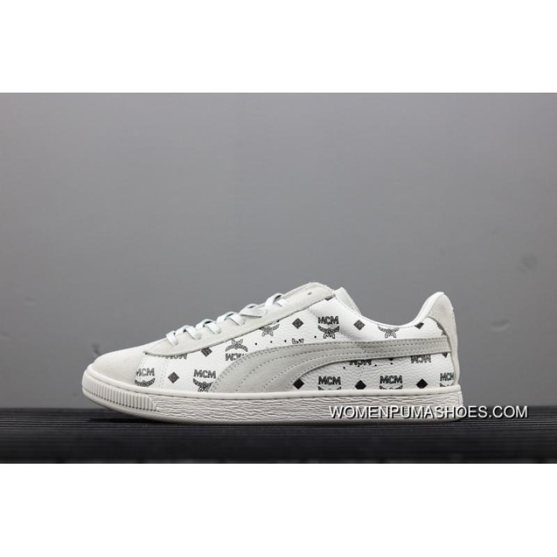 official photos 6eae3 e9e62 New Year Deals Puma Suede X MCM 50 Anniversary MCM WHITE GREY