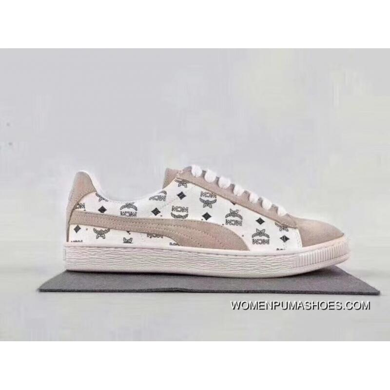 los angeles 8de89 67fc5 Discount Puma Suede X MCM Collaboration Limited Edition The 50th  Anniversary Of The White Grey