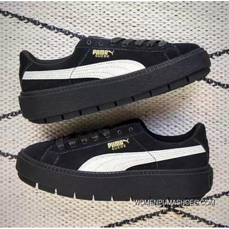 first rate aad17 b57b7 Best Puma Suede Platform Trace Rihanna 4 Large Base Sneakers 367259-01