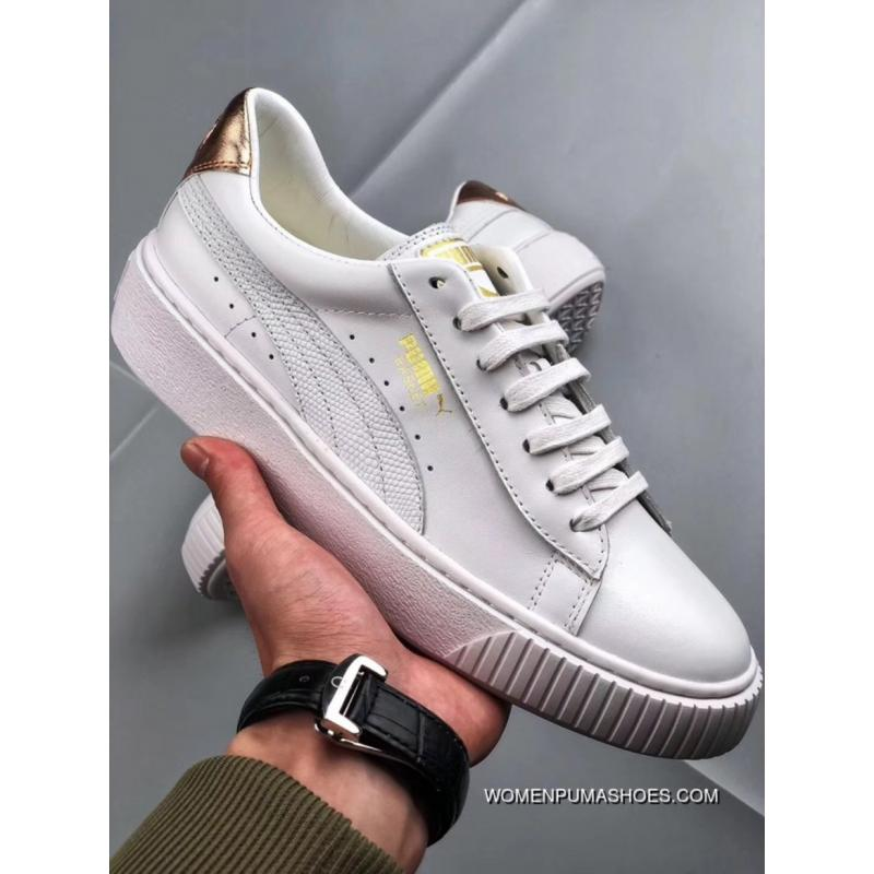 official photos 8fe01 acaa1 Puma Platform Trace L Wns Autumn Fall And Winter Flatform Shoes Size New  Release