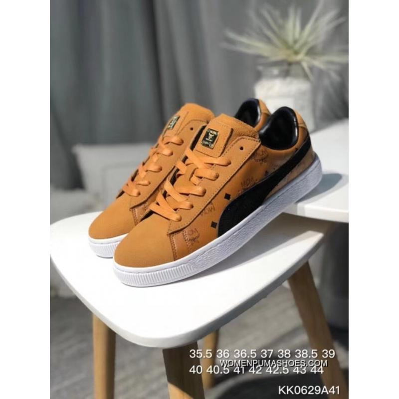 the best attitude 095d9 6a520 Puma Sneakers High German Luxury Brand Collaboration MCM X Suede For The  50th Anniversary Of The Classic All-match Star Series Sneakers MCM Brown ...