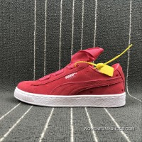 Puma SUEDE Heart Valentine Suede Ribbon Bow Sneakers 365135-01 Size New Release