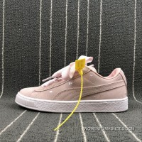 Puma SUEDE Heart Valentine Suede Ribbon Bow Sneakers 365135-03 Size New Release
