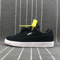 Puma SUEDE Heart Valentine Suede Ribbon Bow Sneakers 365135-02 Size For Sale