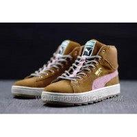 Puma Suede Winterized Rugged Chipmunk/Coral Cloud Pink 106-50672 Christmas Deals DceZb