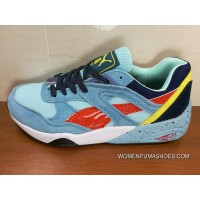 Puma Trinomic R698 Day Blue Red Women Shoes And Men Shoes Top Deals