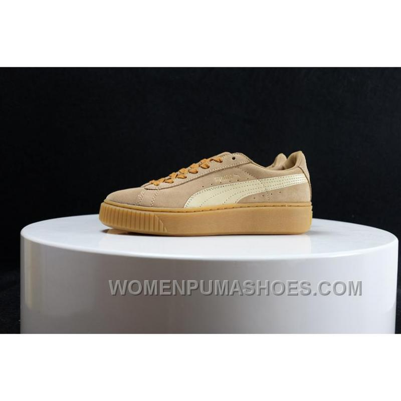 online retailer 94ca1 fb429 Puma Fenty By Rihanna Suede Creepers Men/Women Brown Free Shipping CCzJ8