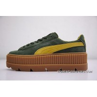 Rihanna X Puma Fenty Suede Cleated Creeper 366267-03 GREEN New Release