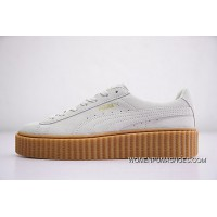 Rihanna X Puma Fenty Suede Cleated Creeper 361005-06 WHITE New Release