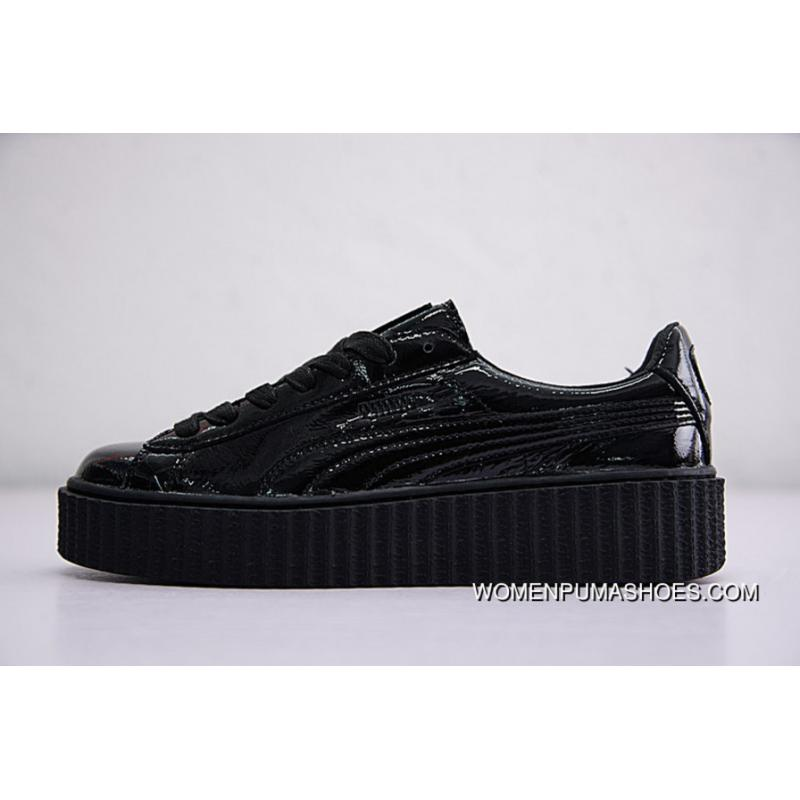 newest collection 410ac 5a69f Rihanna X Puma Fenty Suede Cleated Creeper 364465-01 BLACK New Style