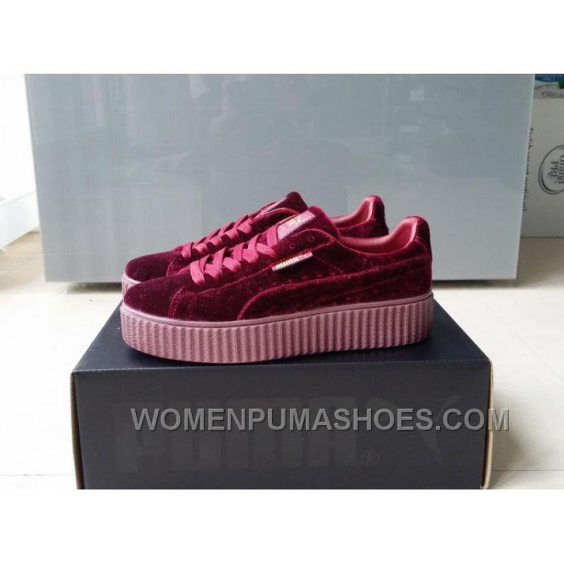 los angeles 05ca4 adc05 Puma By Rihanna Suede Creepers Burgundy New Release Discount Ttmza