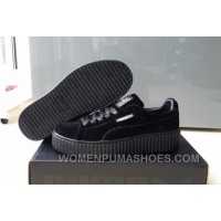 Puma By Rihanna Suede Creepers Black New Release For Sale FFA5W