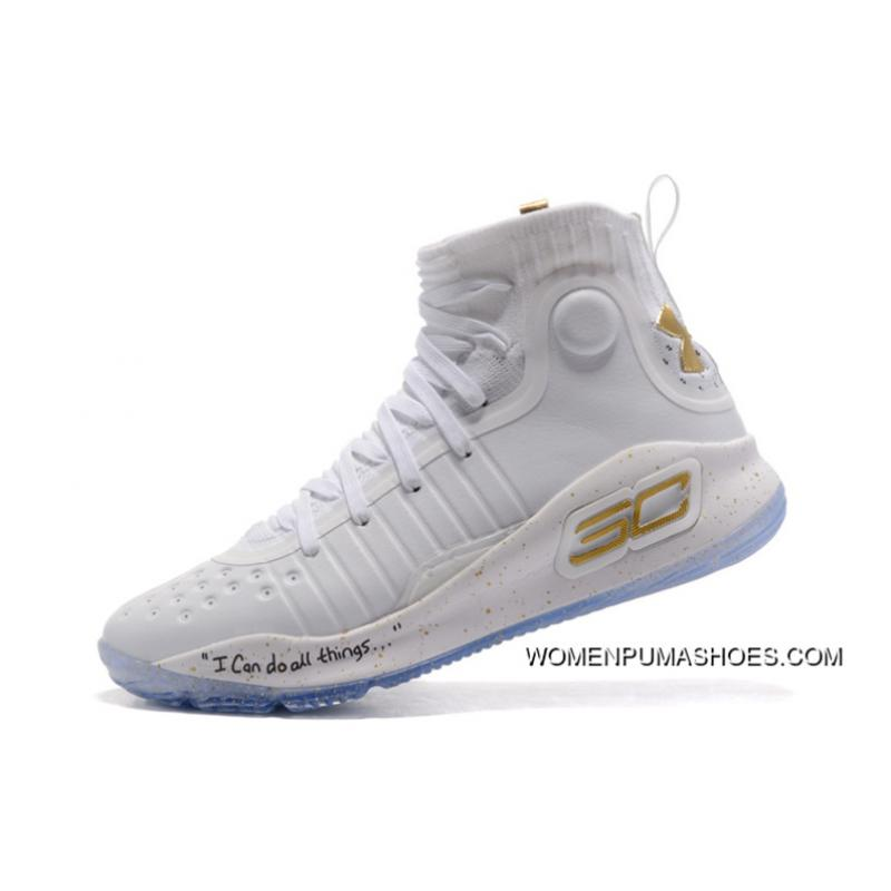 the best attitude 4b8bd bbcd5 Under Armour Curry 4 Basketball Shoes White
