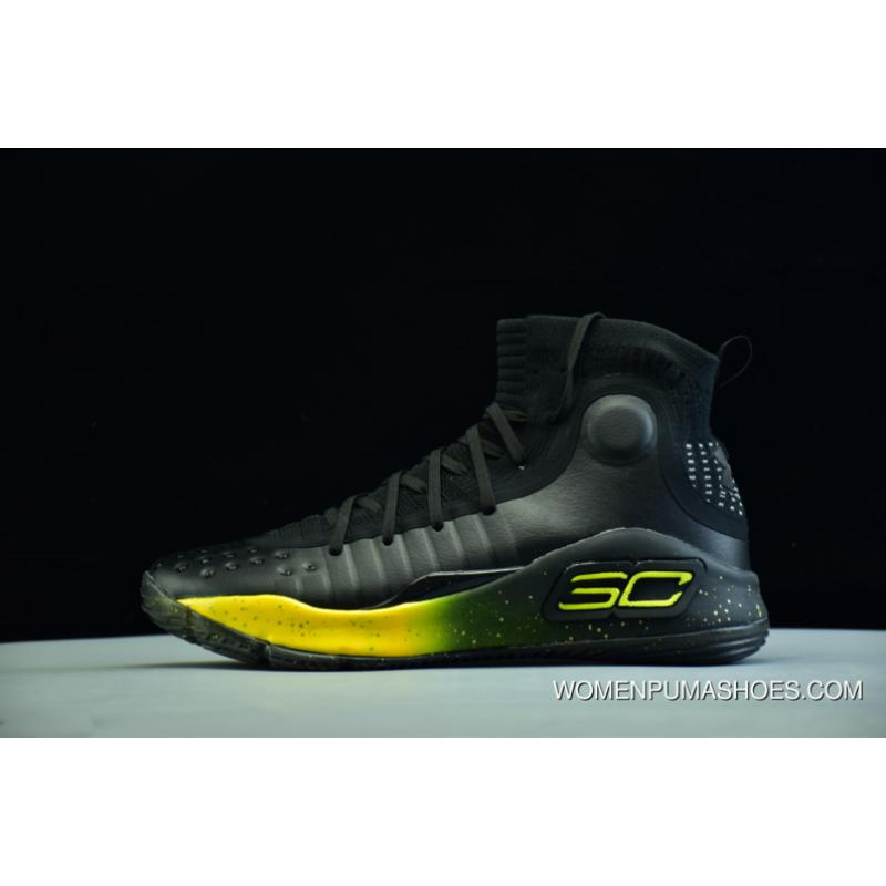 the latest a6889 4e6d9 Under Armour Ua Curry 4 Black Yellow Men's Basketball Shoes Top Deals
