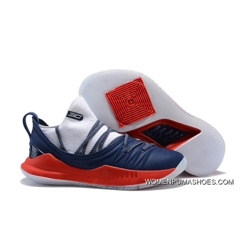 best loved 1e862 f13a1 Men'S Under Armour Curry 5 Low Navy Blue/Red-White Steph Curry Basketball  Shoes Super Deals
