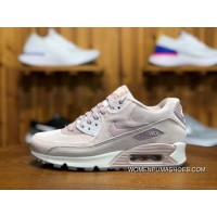 170 Nike AIR MAX 90 LX Zoom Women Shoes Cherry Blossom Put Sakura Pink Velvet Height-happens Running Shoes Size 898512-600 For Sale