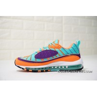 Replenishment Out Dragonball Colorways Nike Air Max 98 Retro Zoom All-match Jogging Shoes Orange Purple Lake Blue 924462-800 Free Shipping