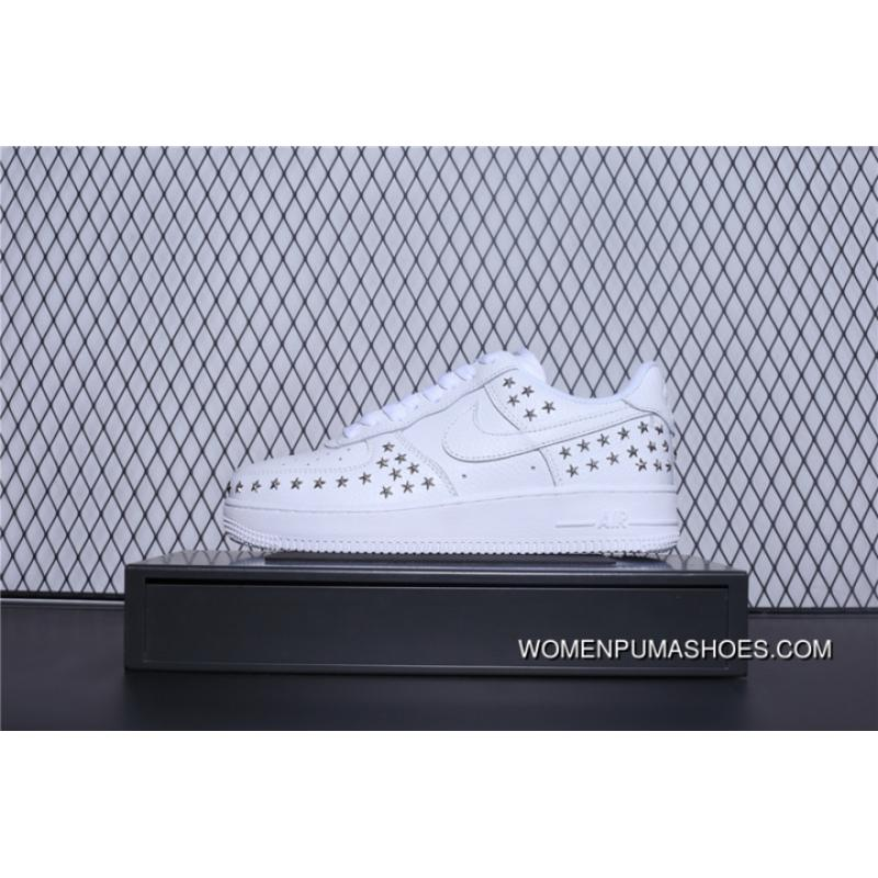 Nike Air Force 1 Low Stars White Gold AR0639 100 Women's Casual Shoes AR0639 100