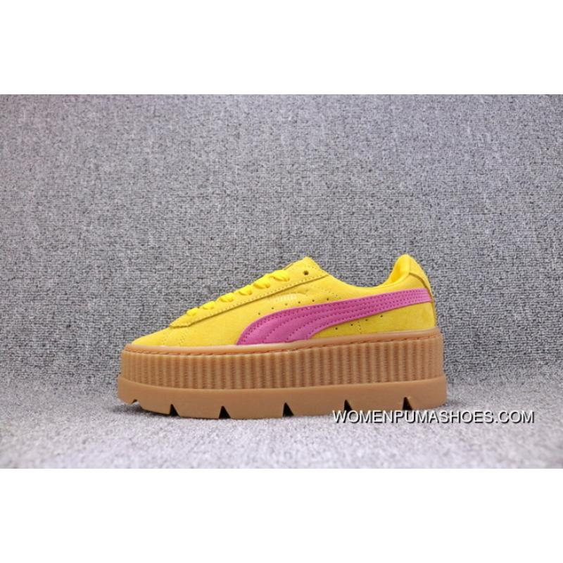 more photos 29d77 82cfa Top Deals Puma X Fenty Creeper Rihanna Flatform Shoes Gold Brown Women  Shoes 366268-03