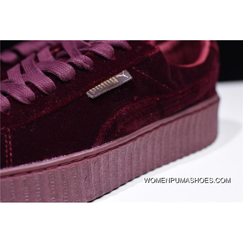 uk availability 900a2 8d2e9 New Year Deals Hyx62608 Orders Velvet Material Thick Silk Arts Women God  Hot Sale Rihanna X PUMA Fenty Creeper Rihanna 1 Height-happens Flatform  Shoes ...