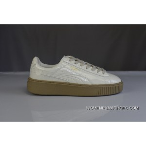 finest selection f55b2 5b368 Discount 180 Welcome To Archives Mouths Consulting Beige White Patent Puma  Basket Platform Rihanna Women Shoes Casual Flatform Shoes Sneakers ...